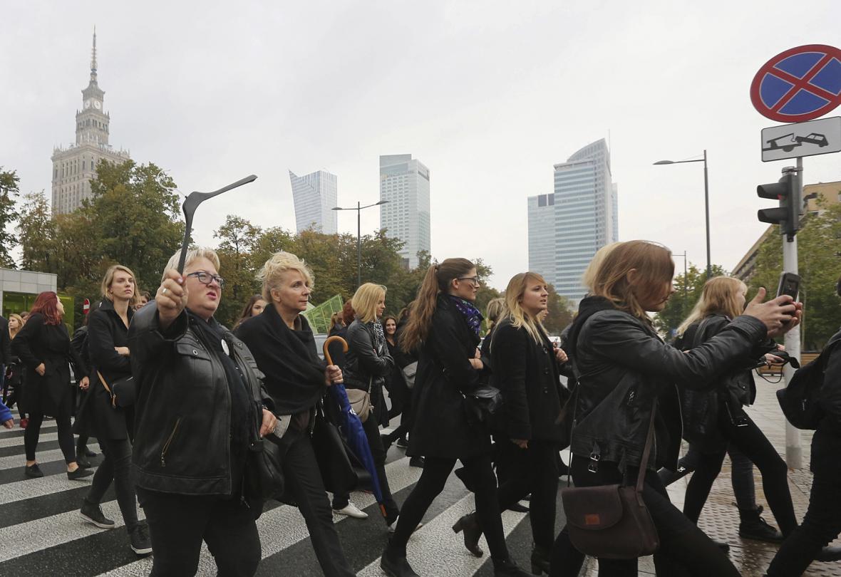 Černé protesty v Polsku