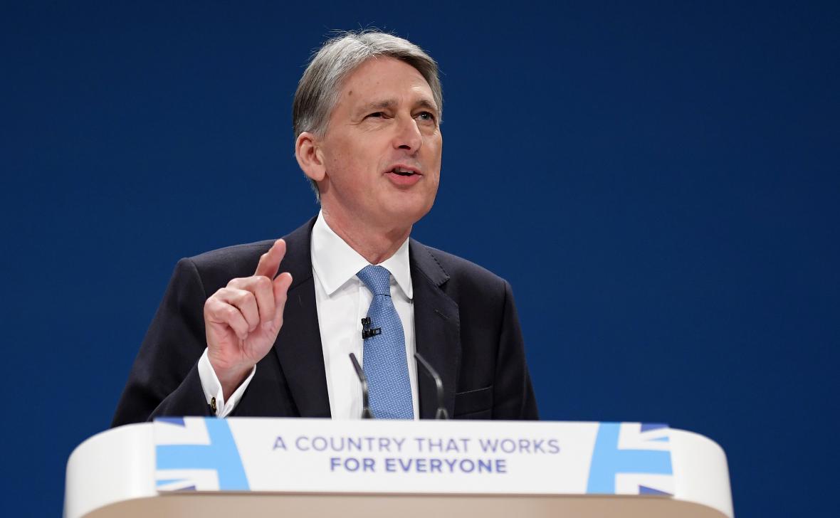 Ministr financí Phillip Hammond