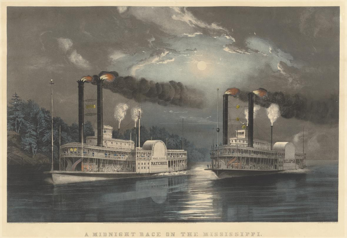 Frances Flora Bond Palmer / Půlnoční závod na Mississippi