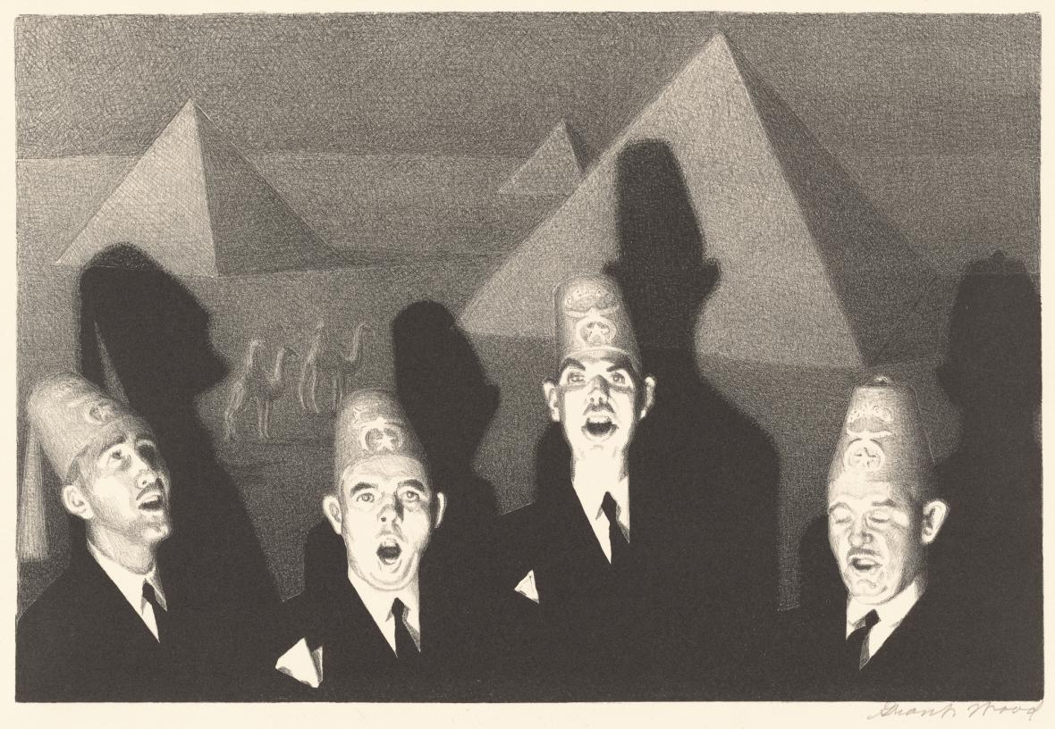 Grant Wood / Kvartet ve svatyni