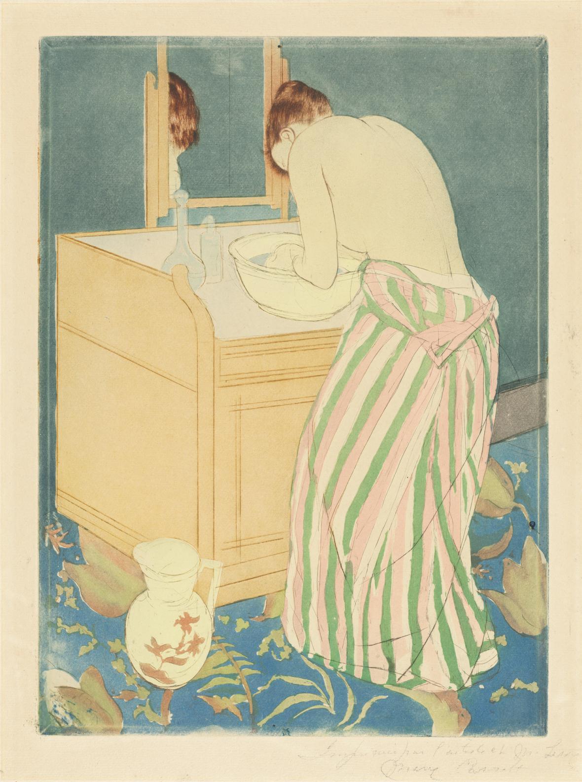 Mary Cassatt / Myjící se žena