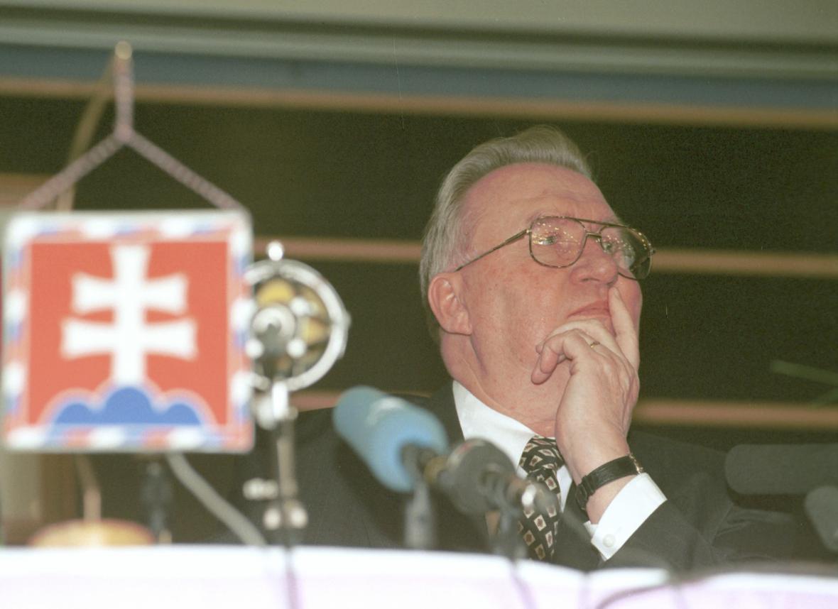 Michal Kováč na fotografii pořízené v roce 1995