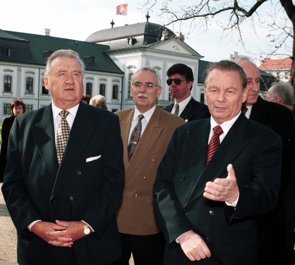 Michal Kováč a Rudolf Schuster