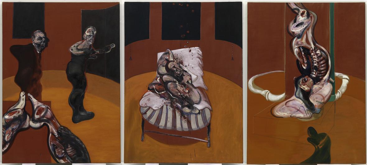 Francis Bacon / Tři studie ukřižování, 1962