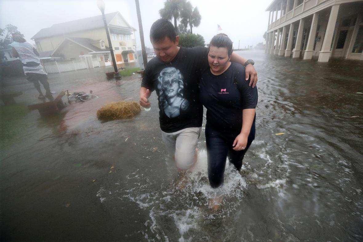 Záplavy ve městě McDonough v Georgii