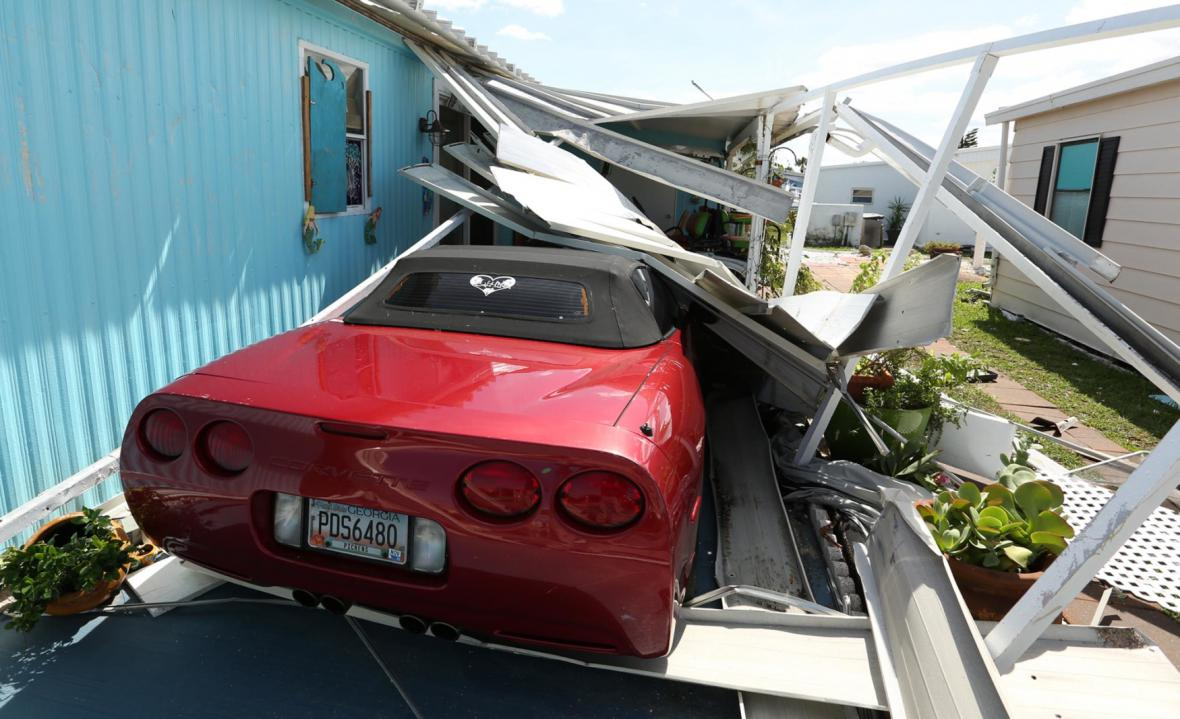 Škody na Floridě po hurikánu