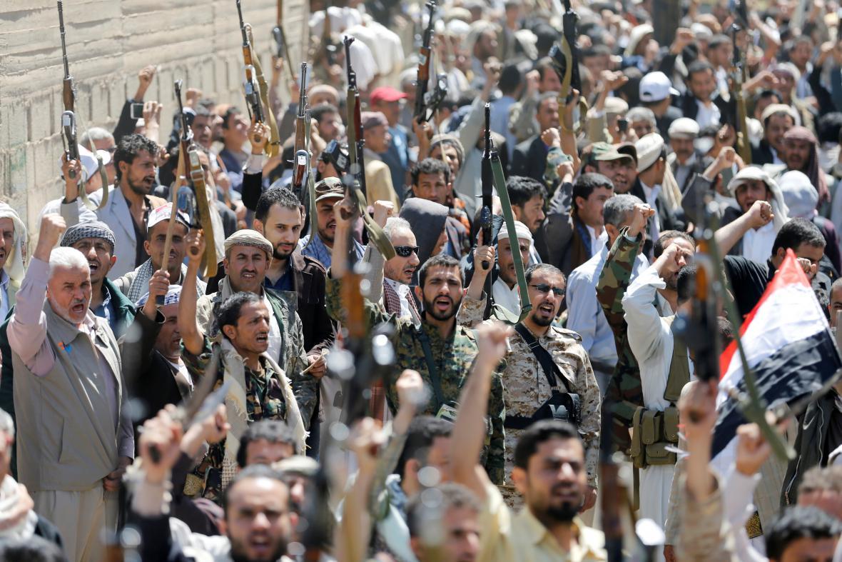 Protesty pře jemenským sídlem OSN