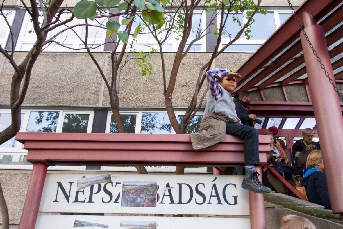 Protest proti pozastavení maďarského opozičního listu Népszabadság