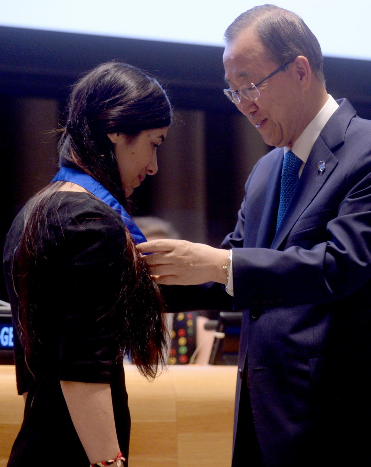 Muradová při jmenování vyslankyní dobré vůle OSN v září 2016