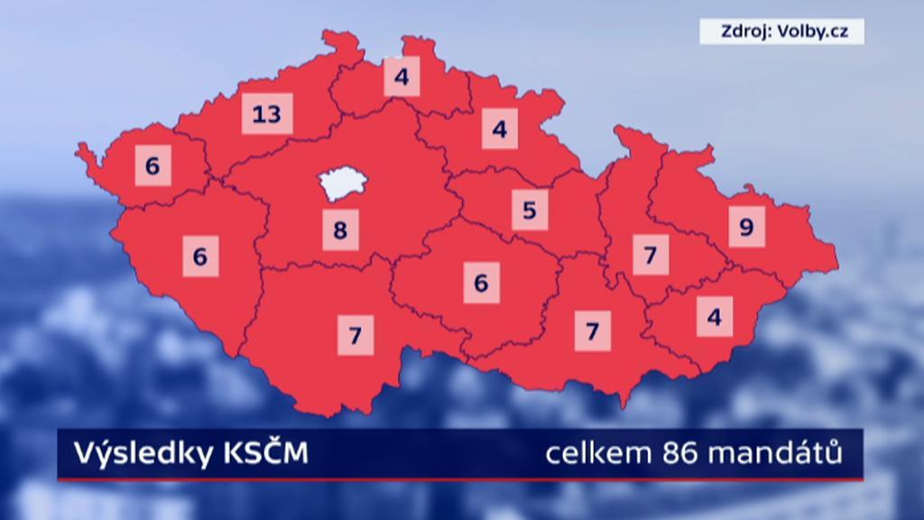 Výsledek KSČM v krajských volbách