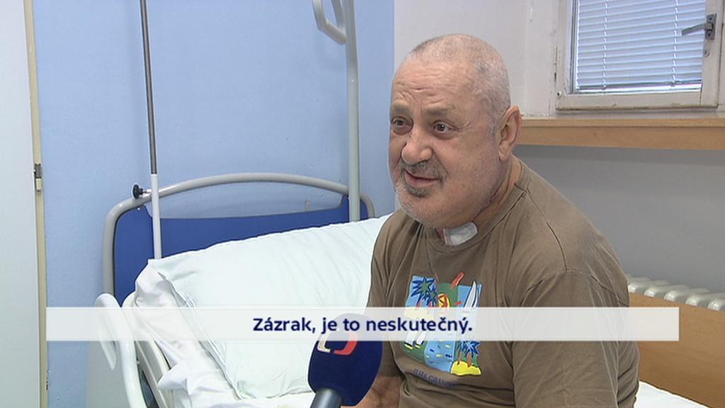 Pacient Imrich Porada si operaci pochvaluje