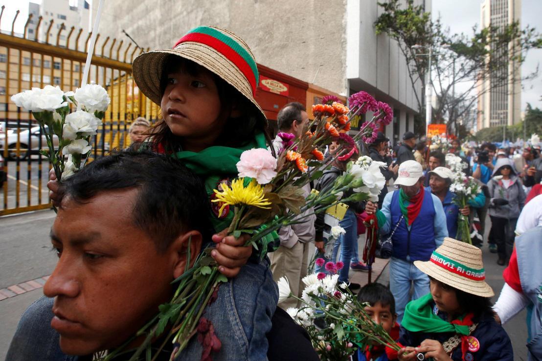Shromáždění v Bogotě na podporu míru
