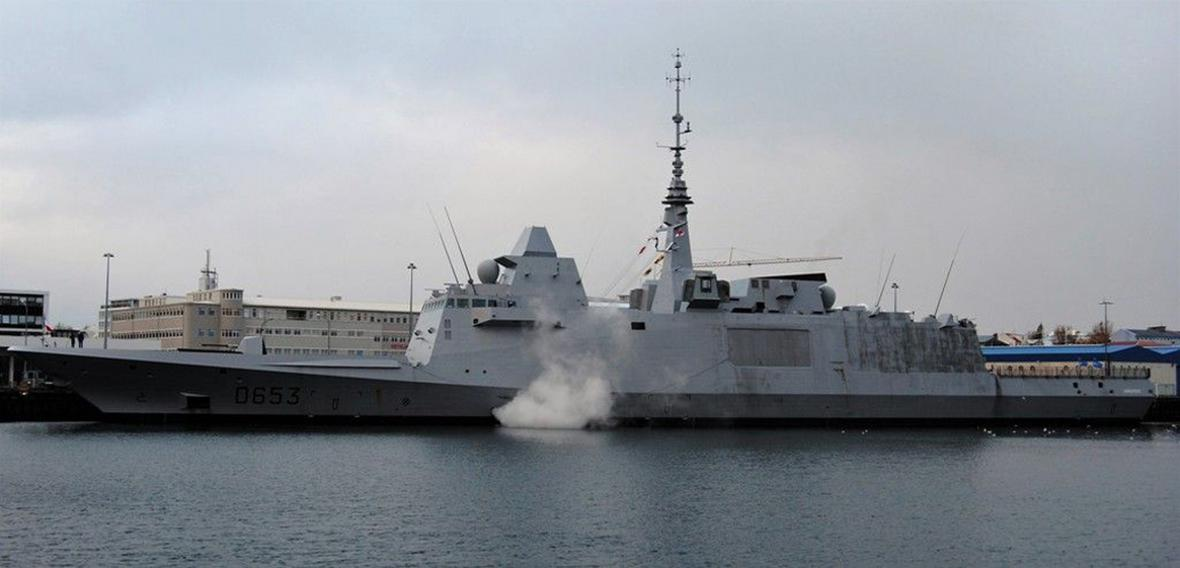 Francouzská fregata Languedoc v Rejkjavíku