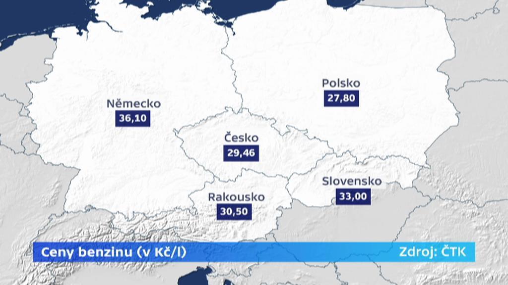 Ceny benzinu v Evropě