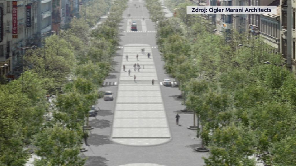 Vizualizace Václavského náměstí