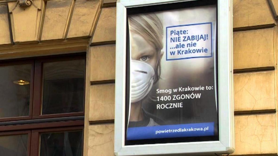 Kampaň za čistší ovzduší v polském Krakově