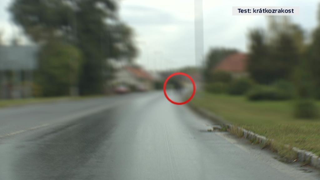 Krátkozrakost – řidič vidí rozmazaně