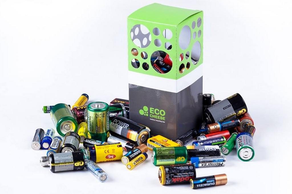 Domácí box na použité baterie - Ecocheese