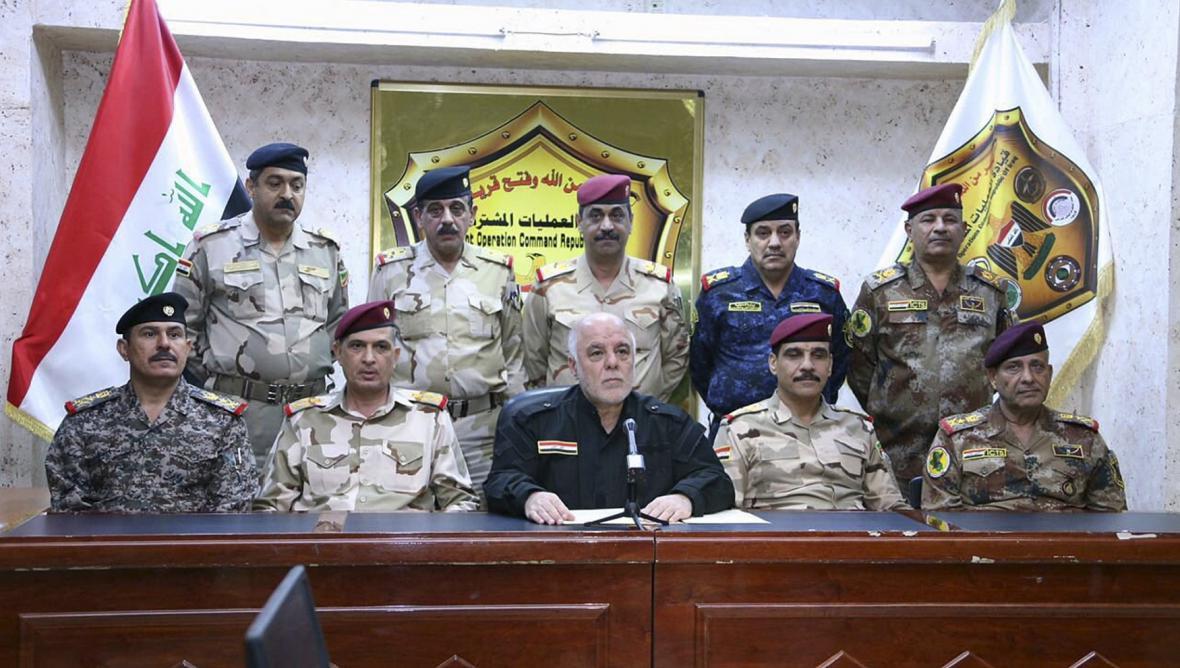 Irácký premiér Hajdar Abádí oznamuje zahájení operace v Mosulu