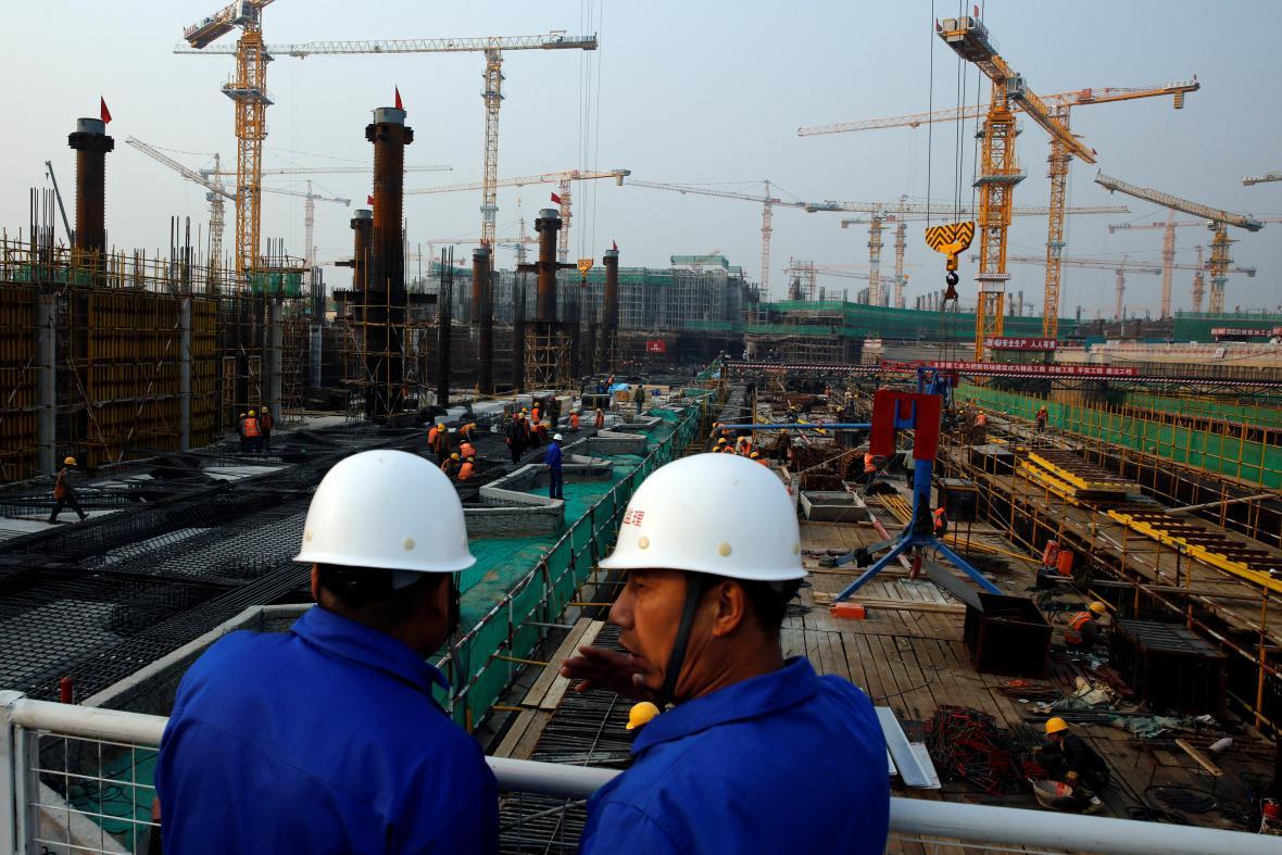 Stavba nového terminálu letiště v Pekingu