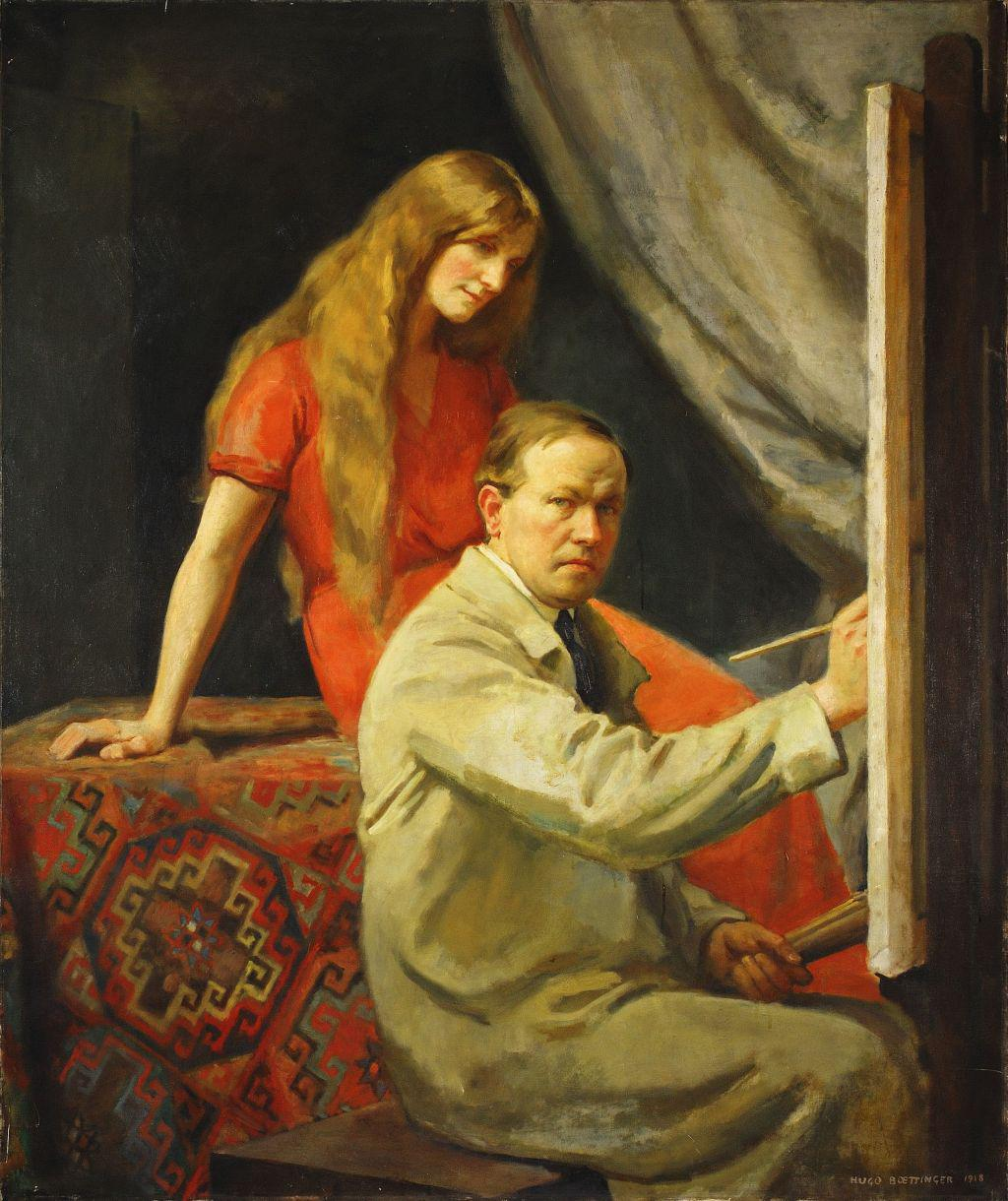 Hugo Boettinger / Umělec a jeho choť, 1918