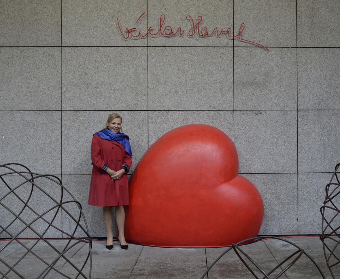 Srdce pro Václava Havla na náměstí Václava Havla