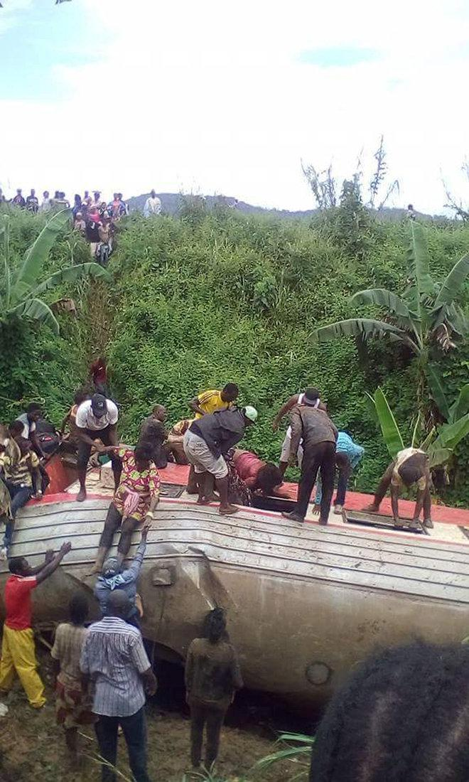 Železniční neštěstí v Kamerunu