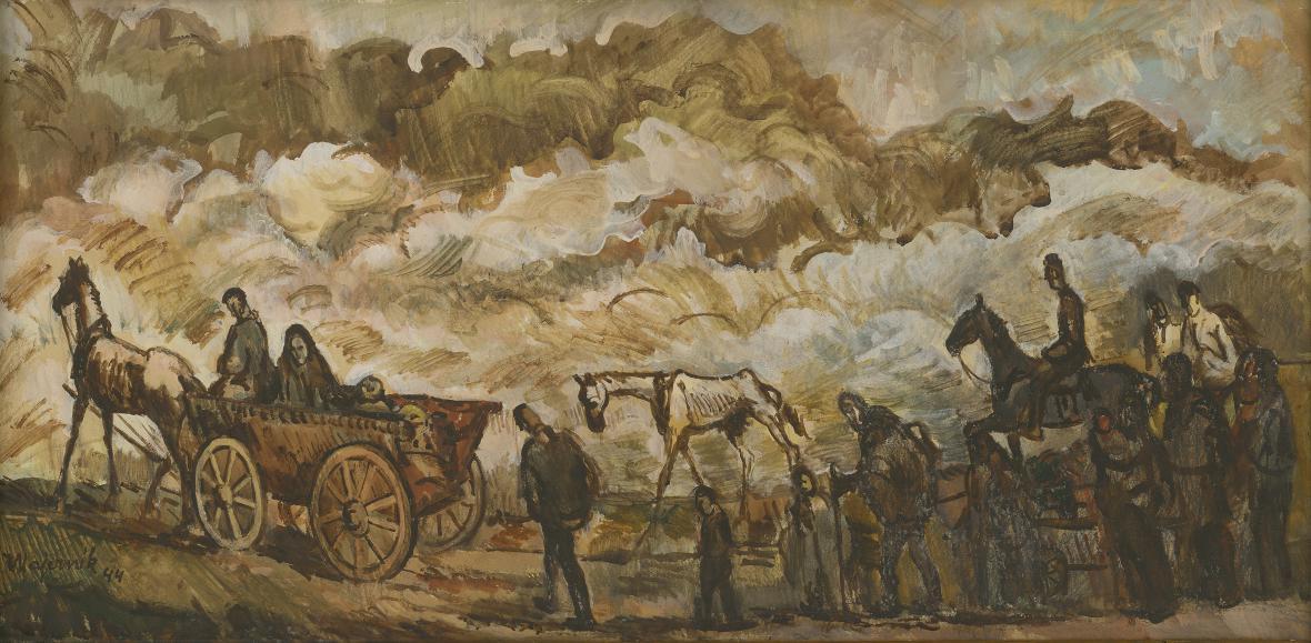 Cyprián Majerník / Utečenci, 1942