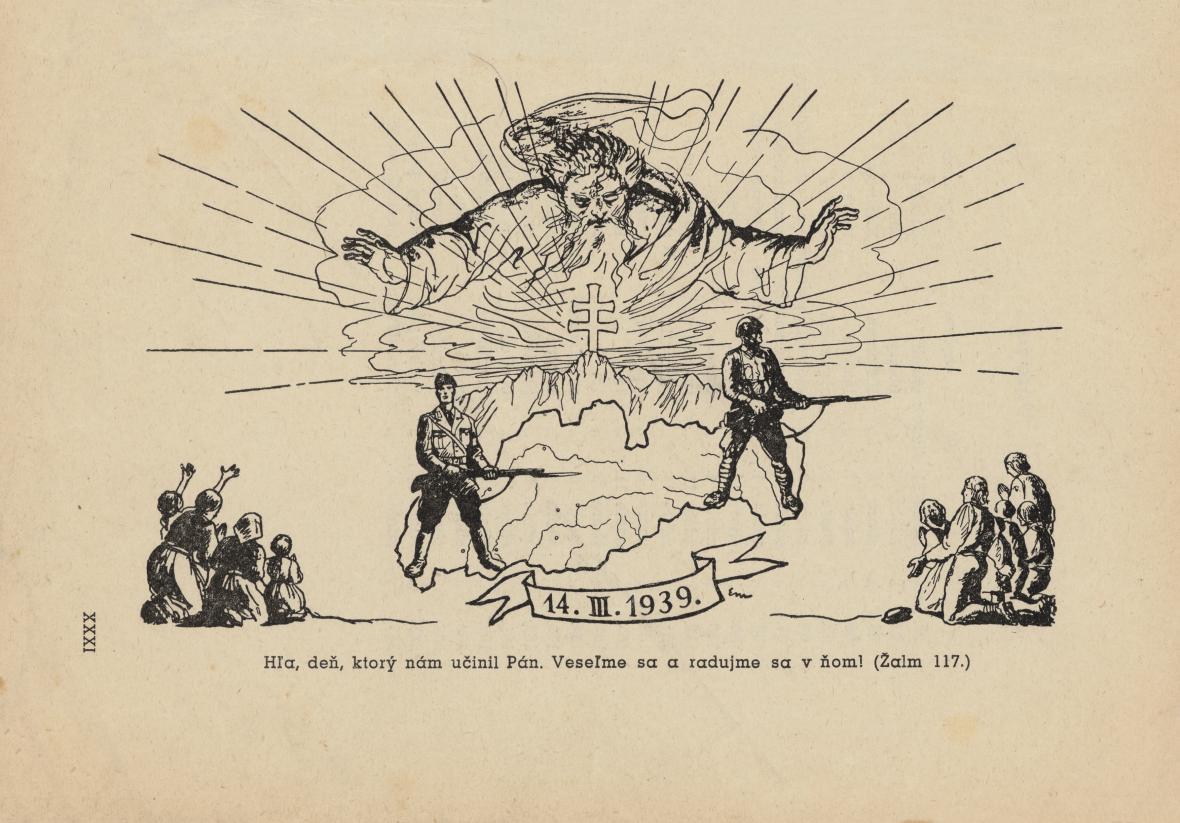 Ilustrace Edmunda Massányiho ke knize Jozefa Braneckého Z tisíciletí, 1943