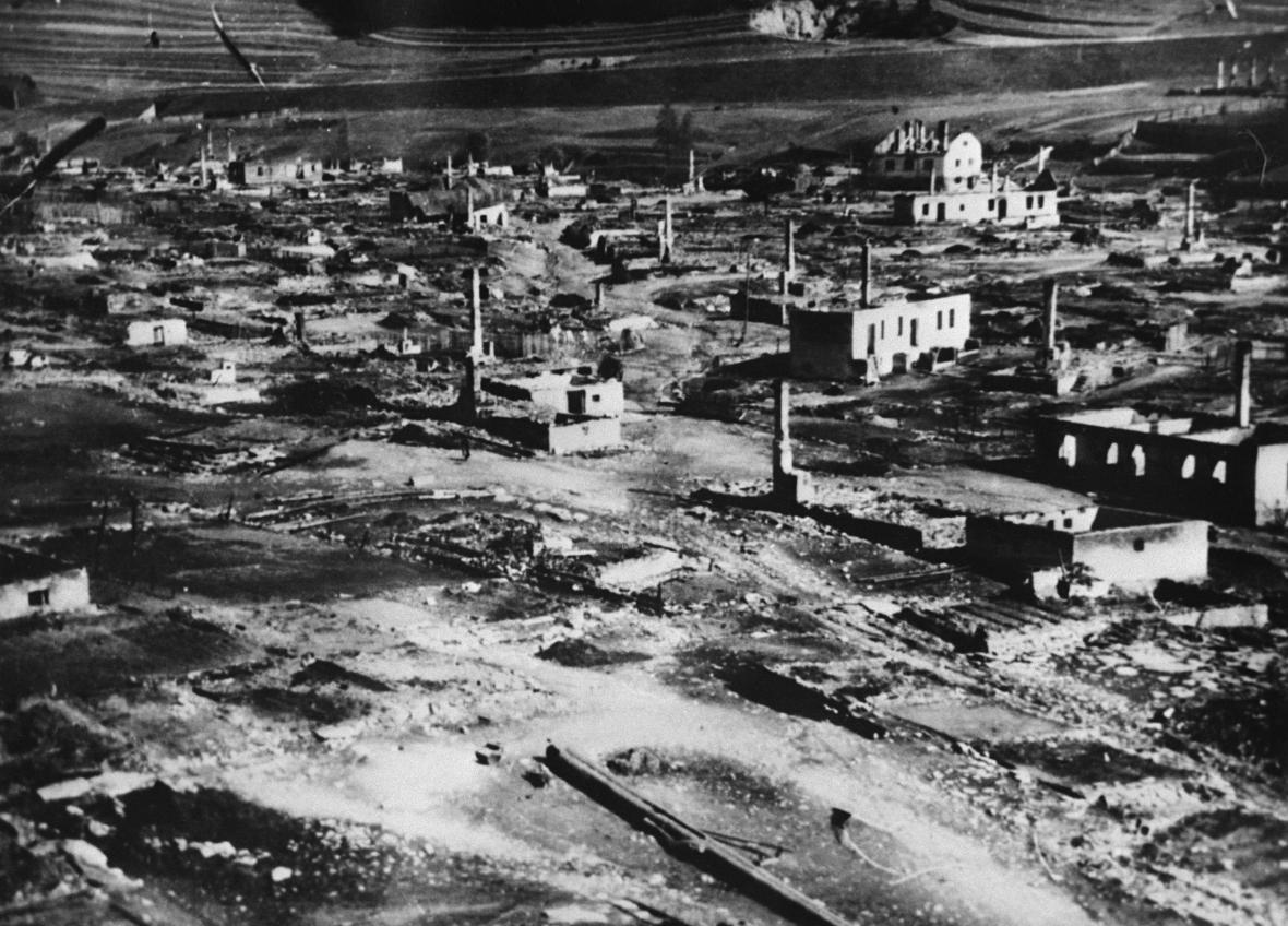 Partyzánská obec Telgárt vypálená fašisty, 30. 9. 1944
