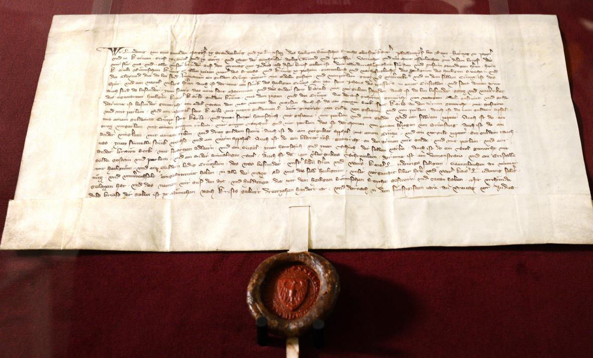 Výstava vzácných listin v Národních archivu