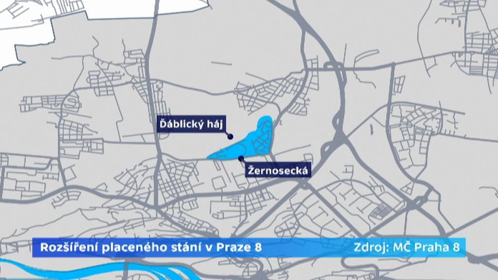 Rozšíření placeného stání v Praze 8