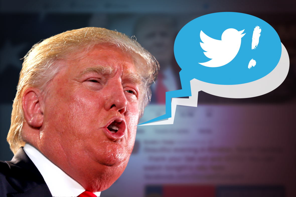 Donald Trump a Twitter