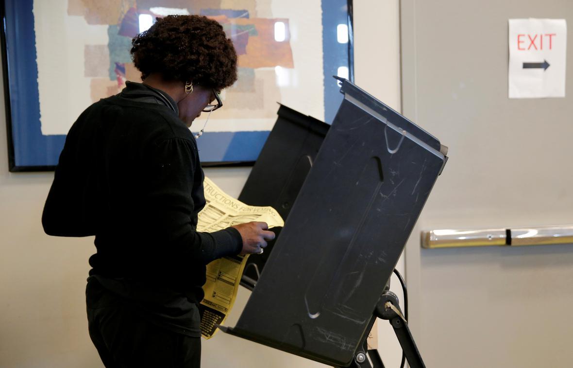 Předčasné hlasování v Charlotte v Severní Karolíně