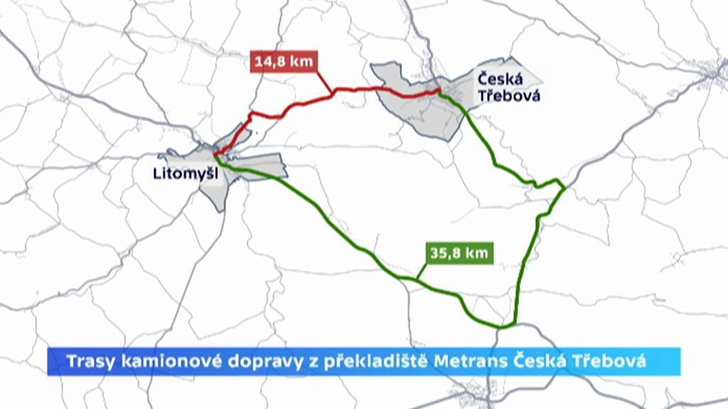 Trasy Litomyšl – Česká Třebová