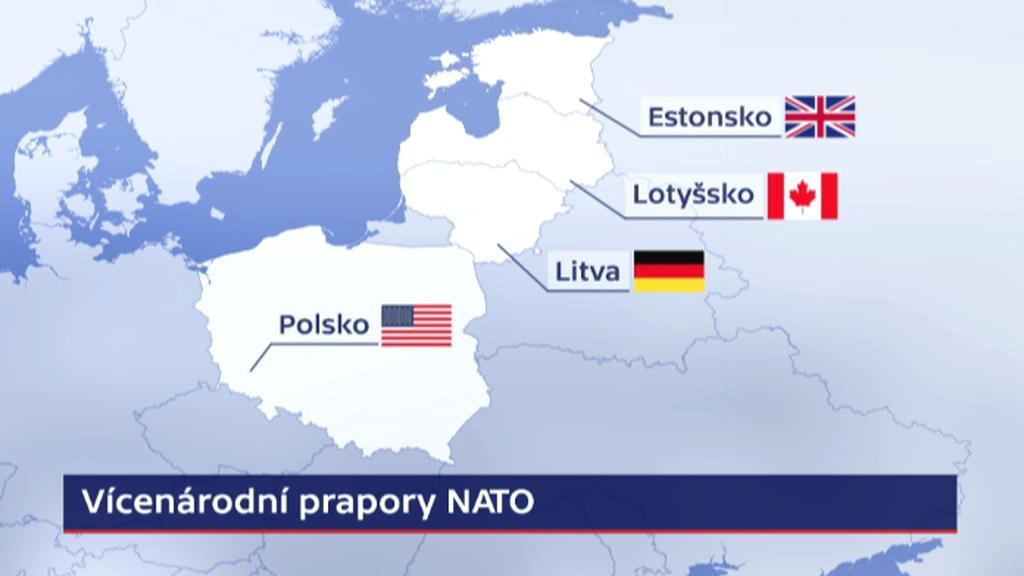 Rozmístění vícenárodních praporů NATO
