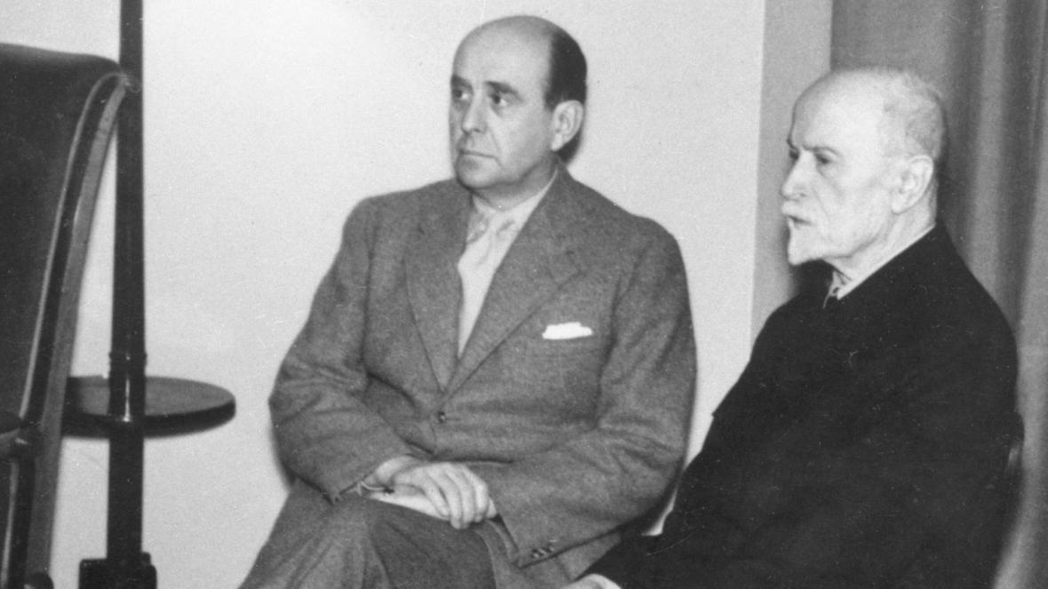 Jan Masaryk a Tomáš Garrigue Masaryk