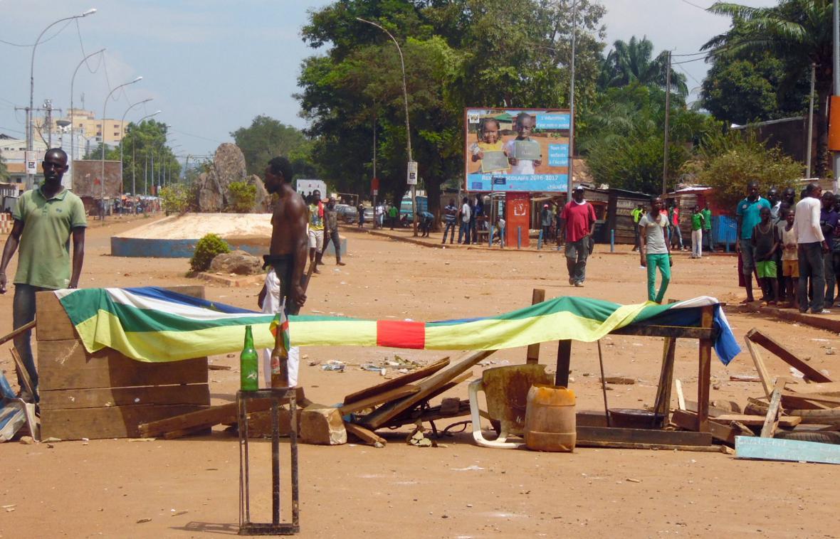 Protest proti vojenské misi OSN v Bangui