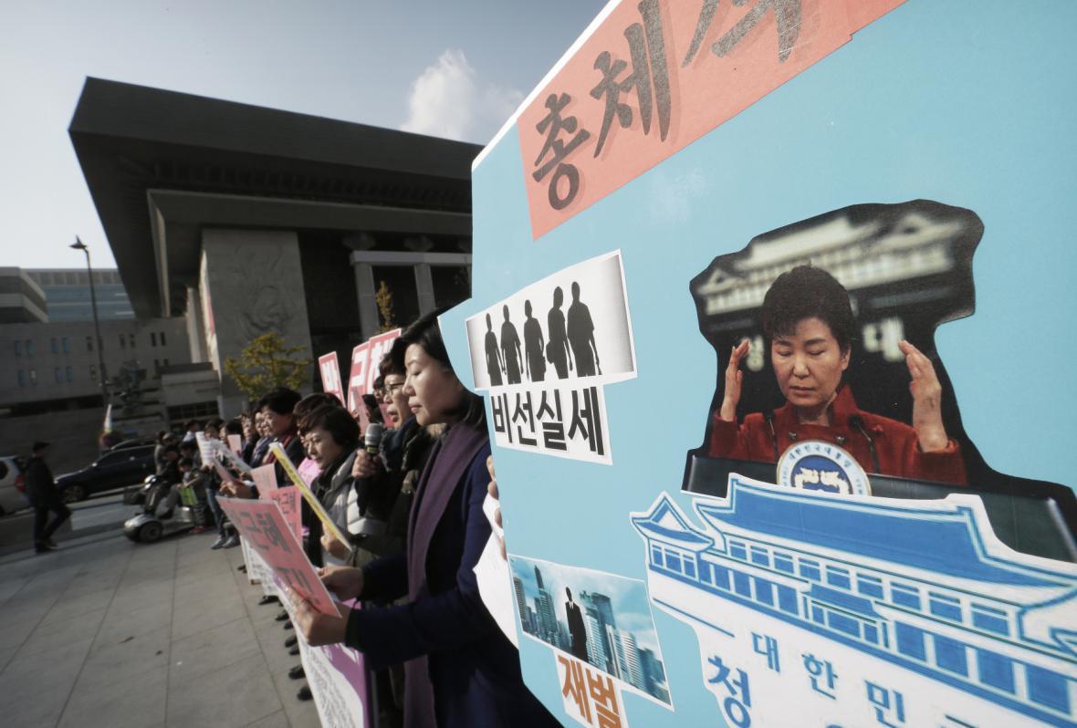 Protesty v Jižní Koreji
