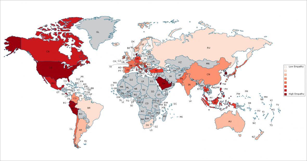 Světová mapa empatie
