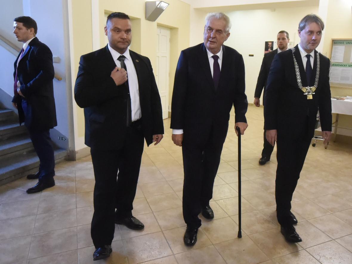Miloš Zeman na Slezské univerzitě