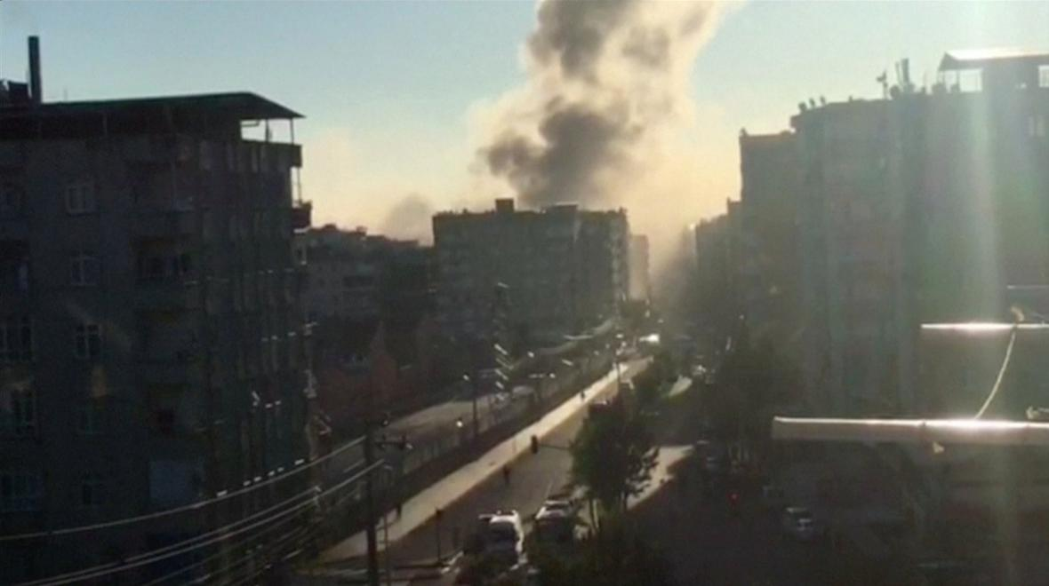 Výbuch v tureckém městě Diyarbakir