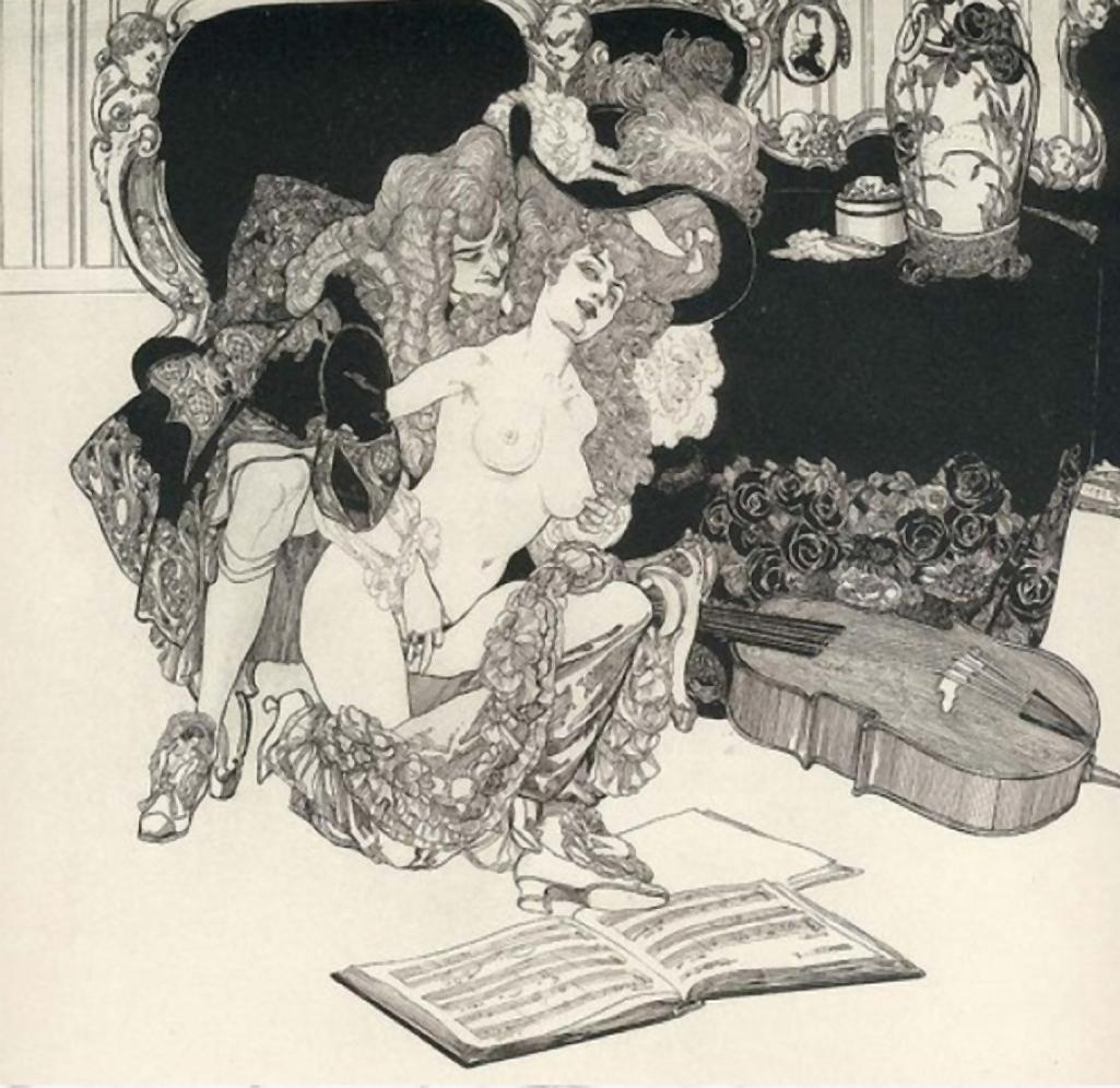Z výstavy erotických grafik (Výstavní síň Viléma Wünscheho)