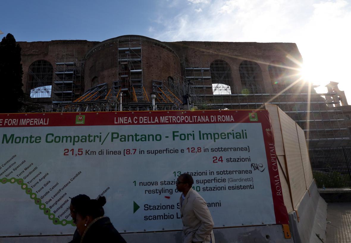 Stavba třetí linky římského metra