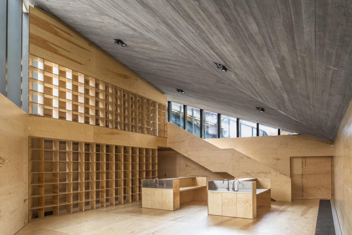 Interiér vrchlabského enviromentálního centra