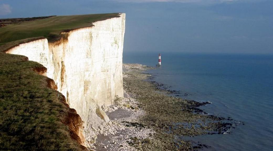 Mys Beachy Head v listopadu 2002