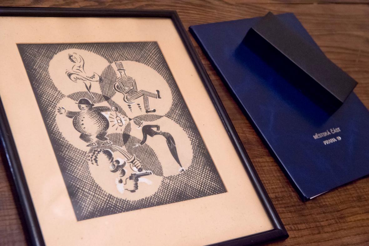 Ilustrace k loupežnické pohádce od Josefa Čapka