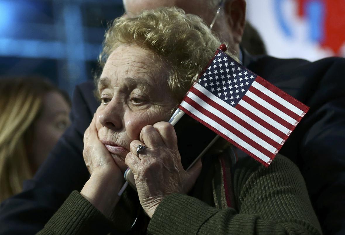 Stoupenkyně demokratů v amerických prezidentských volbách