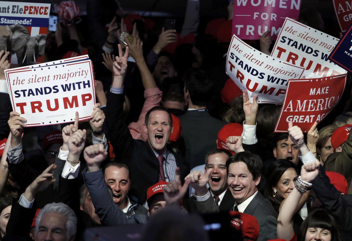 Trumpa podpořilo hodně bílých mužů