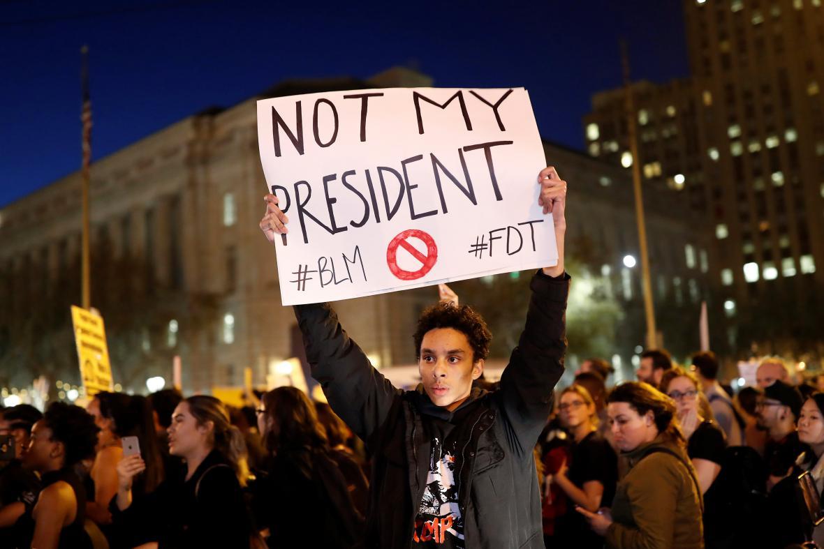 Protesty proti Trumpovi v San Francisku